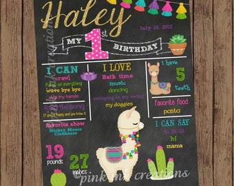 LLAMA Chalkboard Birthday Sign / Llama Chalkboard / Llama Birthday /Birthday Chalkboard Sign / Chalkboard Birthday Poster/PRINTABLE