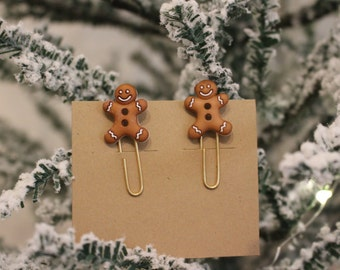 Gingerbread man paperclips
