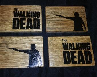 The Walking Dead Rustic Reclaimed Pallet Wood Coasters