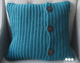 """Crochet Pillow Cover Pattern for 20"""" by 20"""" insert"""