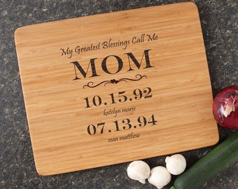 Mother's Day Personalized Cutting Board, Mom, Mother's Day Gift, Engraved Cutting Board, Bamboo Cutting Boards-15 x 12 Mother's Day D38