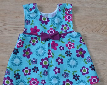 Girls Jumper Dress, Toddler Jumper Dress, Flowery Jumper Dress
