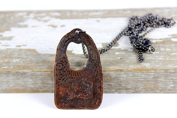 Etched Vintage Purse Necklace, Sterling Silver Chain Layering Necklace