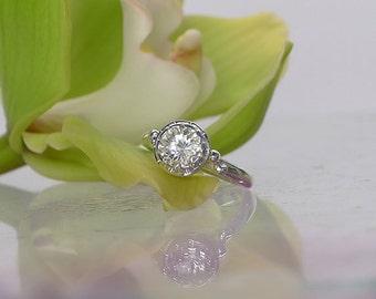 Engagement Ring, Promise Ring, Diamond alternative ring, April Birthstone Ring, Natural Gemstone Ring, Herkimer Diamond Ring