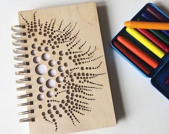 Coral Notebook | Wood Sketchbook | Wooden Notebook | Laser Cut Wood Journal | Acid Free Paper | Ocean Sketchbook | Nature Journal