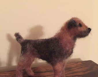 Needle felted Border Terrier