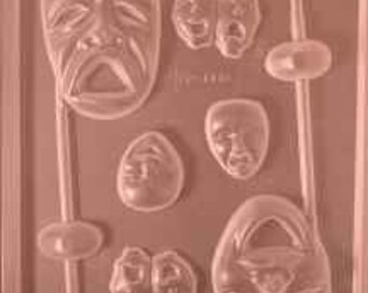 Theater Masks chocolate mold
