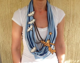 THE LITTLE PRINCE statement necklace, little prince scarf christmas gift