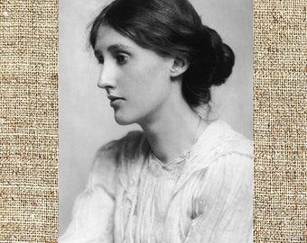 Virginia Woolf photograph, Virginia Woolf black and white photo print, Virginia Woolf vintage photograph