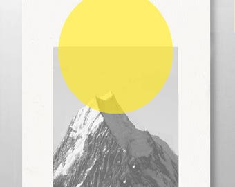 HERE comes the SUN - As seen in Pottery Barn,Minimal Art Mid Century art Wall Art - Rococco-LA print
