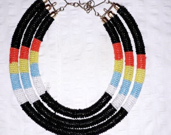 Maasai Round Hand Beaded Necklace