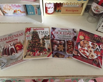 THANKSGIVING & CHRISTMAS Holiday COOKBOOKS  - Choose 1/12 or 1:6 Scale Miniature