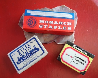 3 Pc. Vintage Office Supplies/Vintage Advertising Boxes