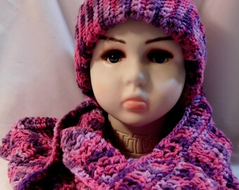 Crochet Hat and Infinity Scarf Set   CLEARANCE ITEM!!