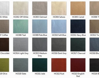 SWATCH: 12 oz Upholstery Linen/Cotton Basketweave Fabric Sample