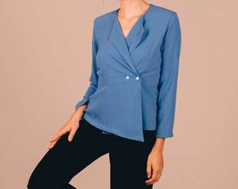 BLUE HORTENSIA BLOUSE