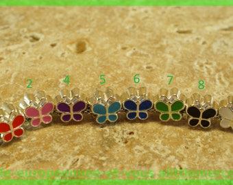 Pearl European N587 N4 Butterfly bracelet charms