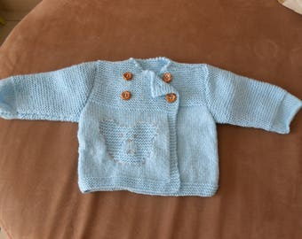 blue jacket for boy 3 months