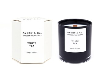 White Tea Wooden Wick Candle