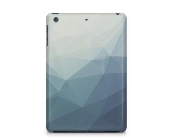 Slate Blue Grey Geometric Pattern iPad case, Mens, Apple iPad hard shell case, ipad Mini, ipad Air, iPad 2,3,4