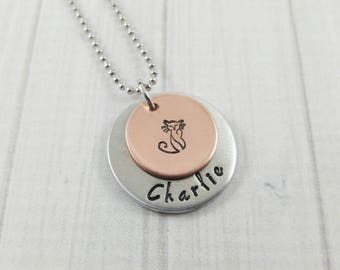 Cat Lover Gift For Women Custom Cat Necklace Kitty Jewelry Cat Necklace Cat Jewelry Cat Necklace Personalized Pet Necklace