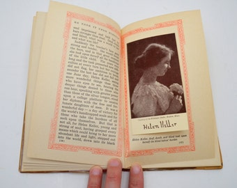 """Antique Book, """"He Took it Upon Himself,"""" Margaret Slattery, First Edition, Beautiful Red Border on Every Page, 1914"""