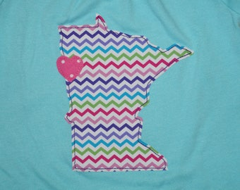 Love Minnesota Girl's Shirt - Size 18 Months