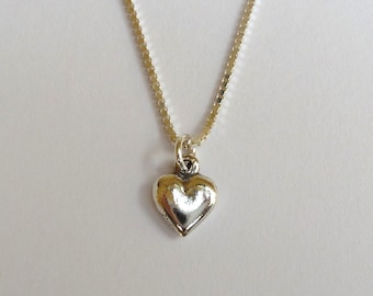 Sterlilng Silver Solid Heart Necklace