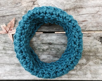 Toddler Cowl Scarf Antique Teal Toddler Scarf Crochet Scarf Ready To Ship