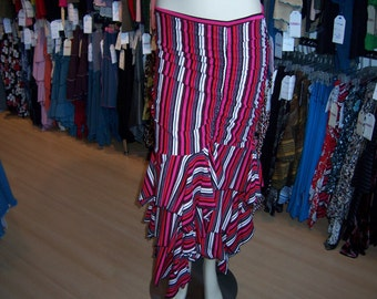 Geometric pattern skirt or tube dress  with 3 layers plus made in USA (v75)