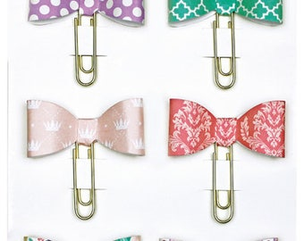 Echo Park Decorative Paper Clip Bows - Once Upon A Time