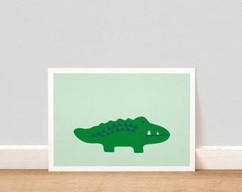 Crocodile PRINTABLE, Crocodile Print, Kids Room Decor, Kids Room Print, Nursery Decor, Nursery Print