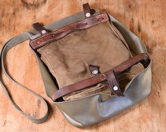 Swiss Army Bag, Made in Switzerland - 1969; Satchel, Crossbody Canvas Messenger Bag