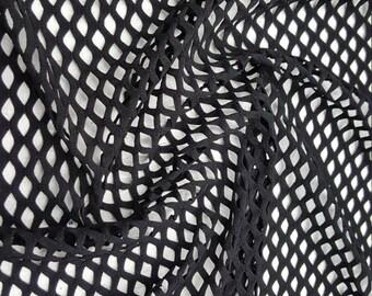 """Fishnet Nylon Spandex 60"""" Black / by the yard"""