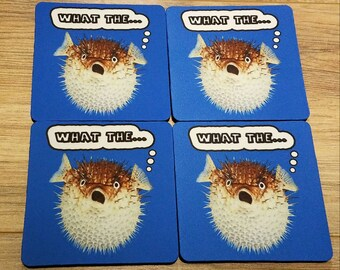 What The... Fabric Coasters Individual/Set