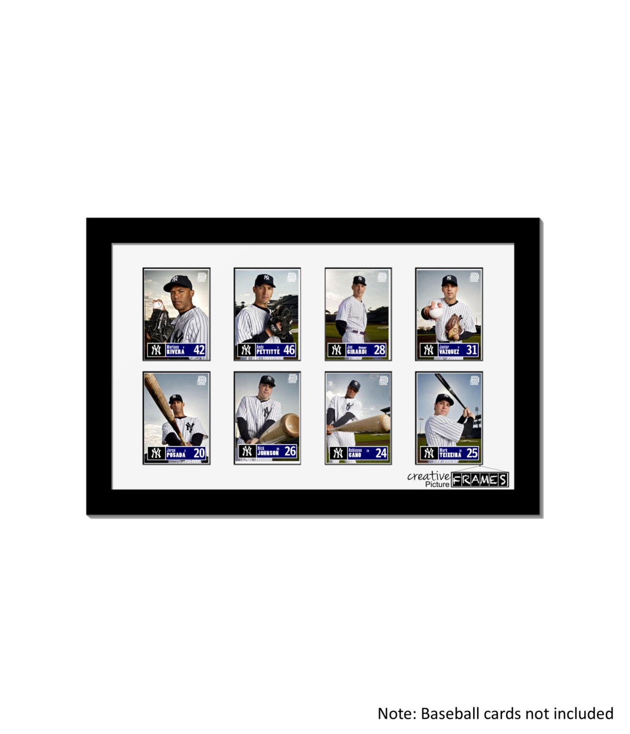 Eight Baseball Card Frame Father\'s Day Gift Perfect