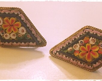 Gorgeous MOSAIC Earrings from Italy