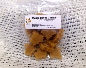 Maple Sugar Leaf Candies 3 oz package/ Vermont maple candy
