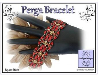 Beading Pattern, Tutorial, Bracelet - PERGA