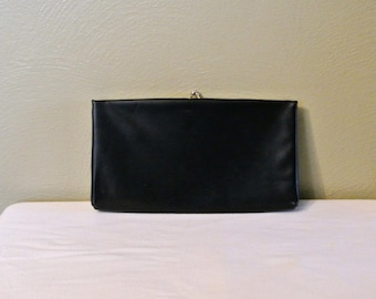 Vintage 60s Harry Levine HL USA Kiss Lock Clutch