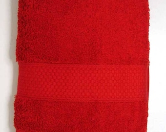 50x90cm towel Terry color bright red cotton