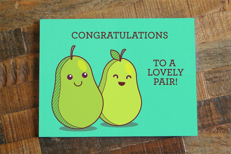 Funny Wedding Card Congratulations To A Lovely Pair Cute
