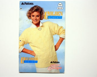 Patons 493 -  Golden Moments -  Ladies Summer Sweaters, Short Sleeve / Sleeveless  Sweaters, Summer Sweaters