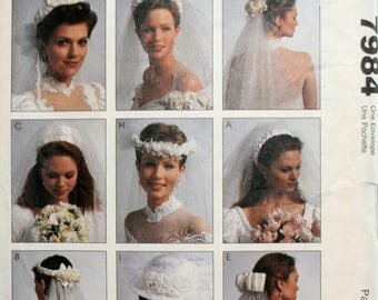 Bridal Veil Sewing Pattern - Wedding Veil Sewing Pattern - Wedding Headpiece Sewing Pattern - Wedding Hat Sewing Pattern - New - Uncut