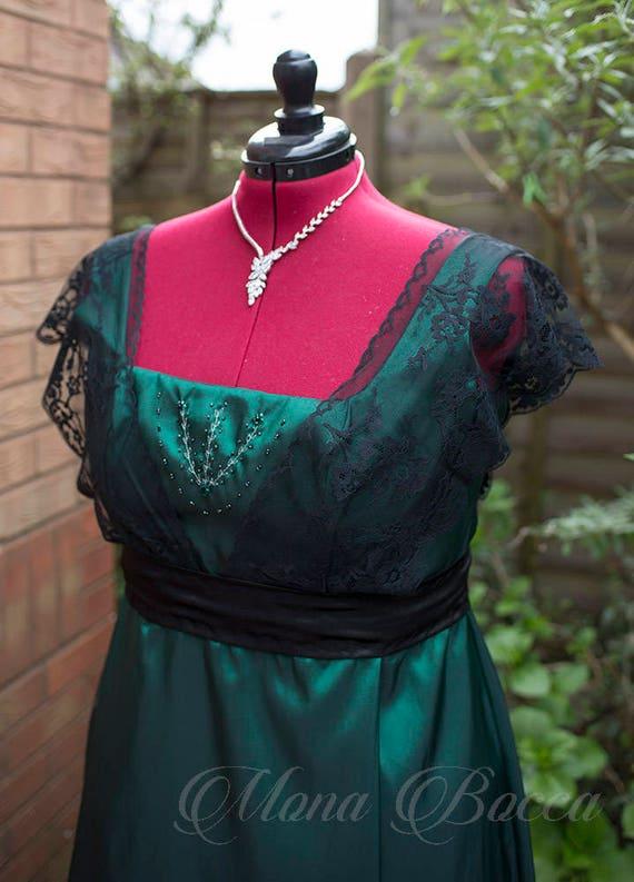 Smaragdgrün Kleid alle Größen 0-28 USA plus Größe Edwardian