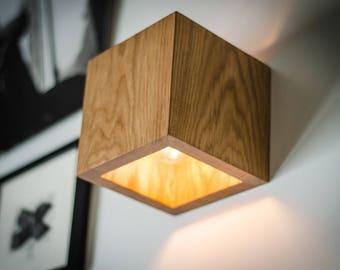 wood lighting. Wall Lamp Q#260 Handmade. SCONCE. Oak Wooden Lamp. Wood Lighting