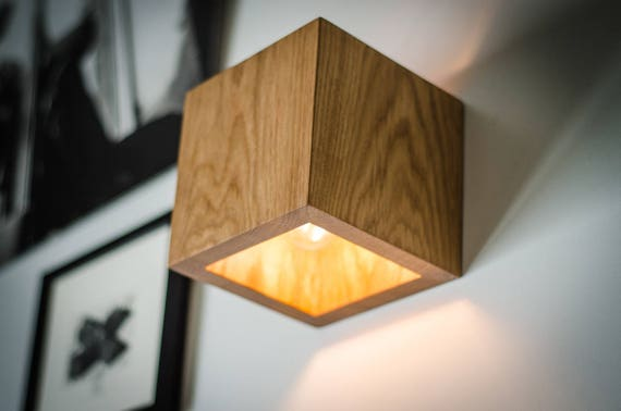 Wall lamp q233 handmade sconce oak wooden lamp wood lamp wall lamp q233 handmade sconce oak wooden lamp wood lamp wall light minimalist lamp wooden lamp wood sconce cube aloadofball Images