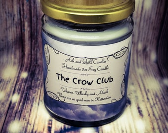The Crow Club  9oz Bookish Candle   Soy Candle   Book Candle   Book Lover Gift   Scented Soy Candle