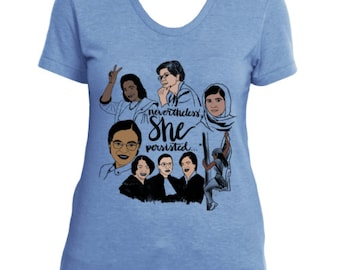 Nevertheless, she persisted... Ladies Tri-Blend T-Shirt