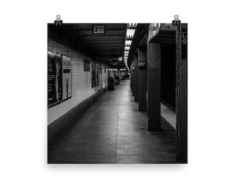 Black And White New York City Subway Photo Image Digital Download